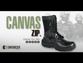 Bota Militar Enforcer Canvas Zip - Linha Fox