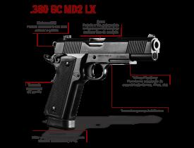 Pistola Imbel  .380 GC MD2 LX S/ ADC